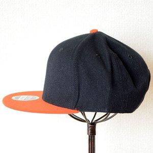 画像5: 帽子/キャップ オットー Otto フラットバイザー ウールブレンド(オレンジ×ブラック)