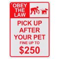 看板/プラサインボード  ペットの糞を後始末 罰金