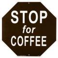 看板/プラサインボード ラージサイズ コーヒーを飲みに立ち寄って