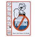 看板/プラサインボード  POPEYE NO PLASTIC
