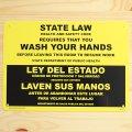 看板/プラサインボード 手洗い厳守 State Law/Wash Your Hands