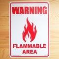看板/プラサインボード 注意可燃エリア Warning Flammable Area