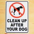 看板/プラサインボード 犬の後始末をきれいに Clean Up after Your Dog