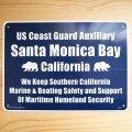 看板/プラサインボード サンタモニカ湾 沿岸警備隊補助隊 Santa Monica Bay