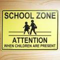 看板/プラサインボード スクールゾーン(通学路) School Zone