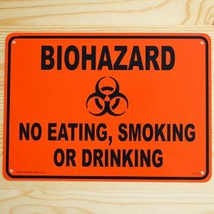 看板/プラサインボード バイオハザード Biohazard(オレンジ)