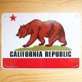 看板/プラサインボード カリフォルニア州旗 California Republic