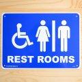 看板/プラサインボード レストルーム(トイレ) Rest Rooms