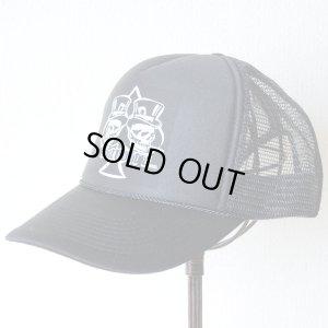 画像1: 帽子/メッシュキャップ トラックブランド Dealer(スペードスカル/ブラック)