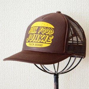画像1: 帽子/メッシュキャップ トラックブランド Junk(ブラウン)