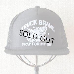 画像2: 帽子/メッシュキャップ トラックブランド Pray(ブラック/フラットブリム)