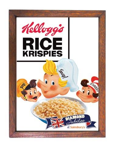 ケロッグ Kelloggs広告ポスター額入りアメリカ雑貨通販レイジーストア