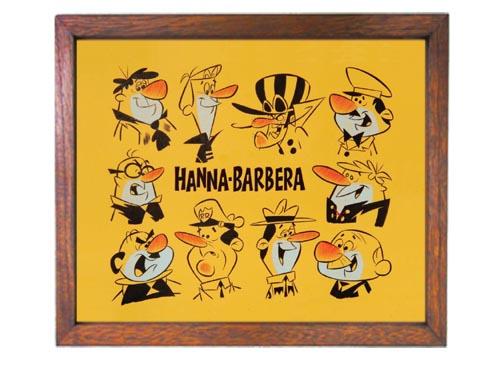 ハンナバーベラ広告ポスター額入りアメリカ雑貨通販レイジーストア