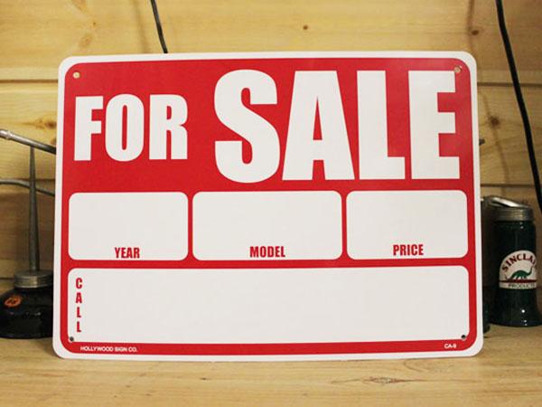 看板 プラサインボード 売ります for sale フォーセール アメリカ雑貨