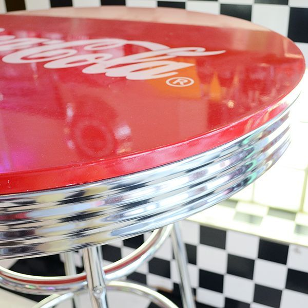 [Coca-Cola] Hi-Table / [コカコーラ] ロゴ入りハイテーブル 机