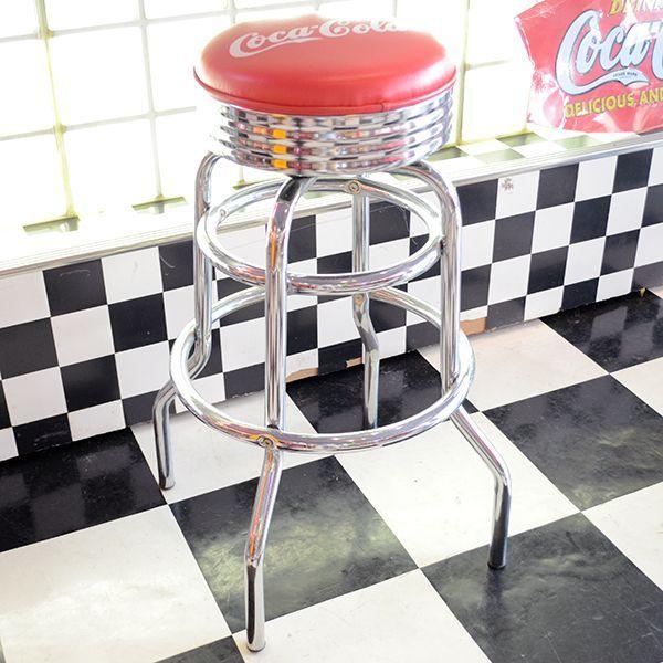 [Coca-Cola] Hi-Stool / [コカコーラ] ハイスツール ロゴ入り椅子