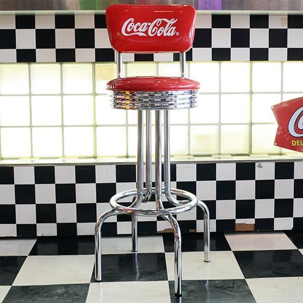 [送料無料] Coca-Cola コカコーラ ロゴ入り Vスツール 椅子 カウンターチェア