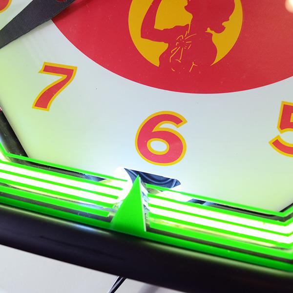 [Coca-Cola] Neon Clock / [コカ・コーラ] ネオンクロック ロゴ入り壁掛け時計 アメリカン