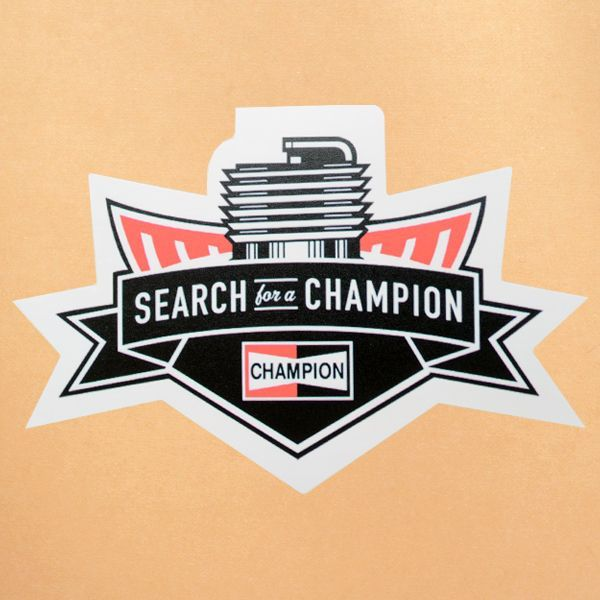 ガレージステッカー champion チャンピオン ダイカット シール