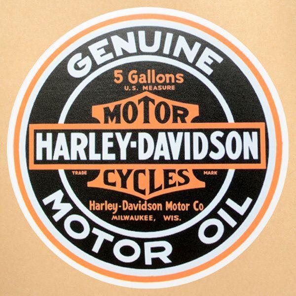 アメリカ雑貨・コカコーラグッズ・看板・ポスター通販 レイジーストア(Lazy Store)                                     ガレージステッカー Harley-Davidson ハーレーダビッドソン シール アメリカン *メール便可                                     [GS-019]