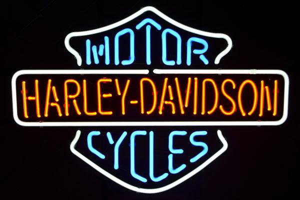ネオンサイン ハーレーダビッドソン Harley-Davidson(バー&シールドのみ)