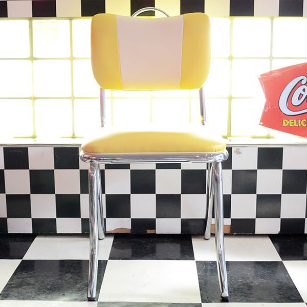 American V-Back Chair(Yellow/Ivory) / アメリカンブイバックチェア(イエロー/アイボリー) 椅子 家具