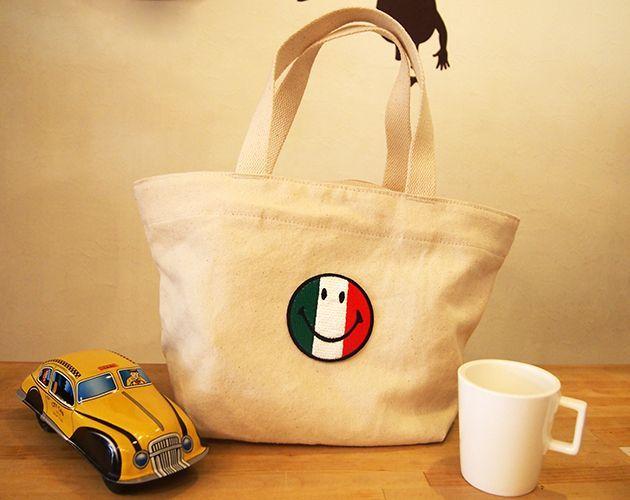 Wappen Smile Mark Italia Flag / ワッペン スマイルマーク(イタリア国旗)